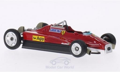 Ferrari 126 1982 1/43 Brumm C2 Turbo Scuderia Formel 1 GP San Marino T-Car / Ersatzfahrzeug miniature