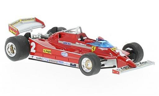 Ferrari 126 1/43 Brumm C turbo No.2 Formel 1 GP Italien 1980 G.Villeneuve diecast model cars