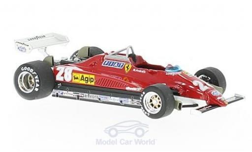 Ferrari 126 1982 1/43 Brumm C2 turbo No.28 Formel 1 GP Italien M.Andretti miniature