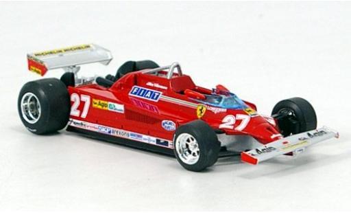 Ferrari 126 1/43 Brumm CK Turbo No.27 Scuderia Formel 1 GP Italien 1981 G.Villeneuve miniature
