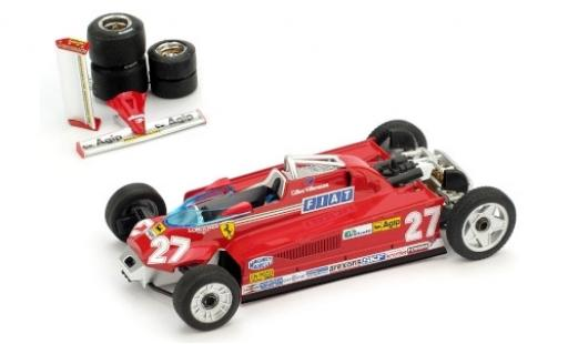 Ferrari 126 1/43 Brumm CK Turbo No.27 Scuderia Formel 1 GP Monaco 1981 Transportversion G.Villeneuve diecast model cars