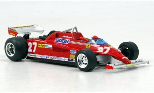 Ferrari 126 1/43 Brumm CK Turbo No.27 Scuderia Formel 1 GP Monte Carlo 1981 G.Villeneuve sans Vitrine miniature