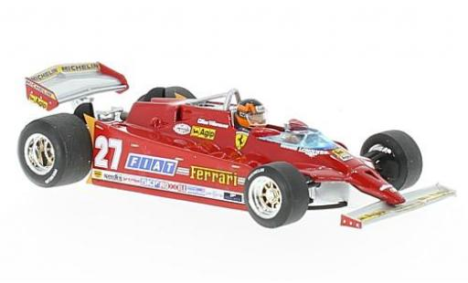 Ferrari 126 1/43 Brumm CK turbo No.27 Scuderia Formel 1 GP USA 1981 avec figurine de conducteur G.Villeneuve miniature