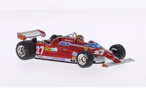 Ferrari 126 1/43 Brumm CK Turbo No.27 Suderia Formel 1 GP Monte Carlo 1981 avec figurine de conducteur G.Villeneuve miniature