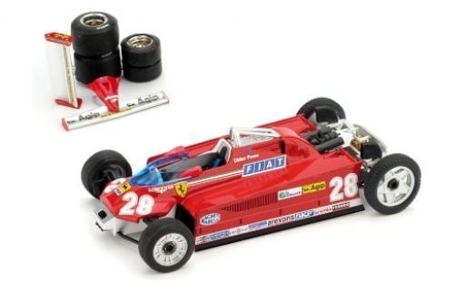 Ferrari 126 1/43 Brumm CK Turbo No.28 Scuderia Formel 1 GP Monaco 1981 Transportversion D.Pironi coche miniatura