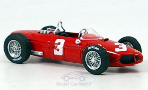 Ferrari 156 1/43 Brumm No.3 G.P.Olanda 1961 W.von Trips ohne Vitrine miniature