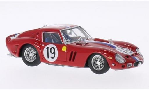 Ferrari 250 1/43 Brumm GTO No.19 24h Le Mans 1962 châssis 3705GT J.Guichet/P.Noblet miniature