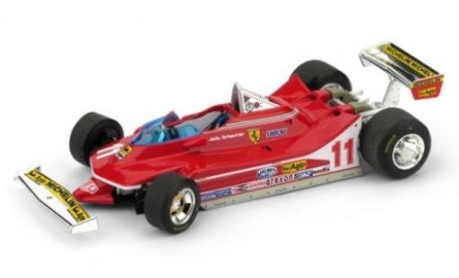 Ferrari 312 1/43 Brumm T4 No.11 Scuderia Formel 1 GP Italien 1979 mit lenkbaren Vorderrädern J.Scheckter modellautos