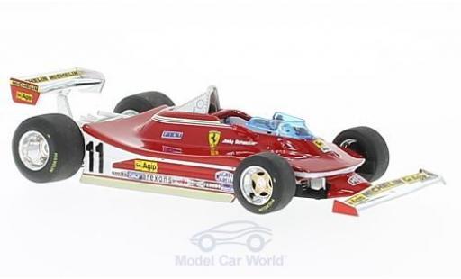 Ferrari 312 1/43 Brumm T4 No.11 und 12 Formel 1 1979 Presentation Fiorano J.Scheckter/G.Villeneuve miniature