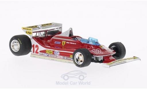Ferrari 312 T4 1/43 Brumm T4 No.12 GP Monaco 1979 G.Villeneuve miniature
