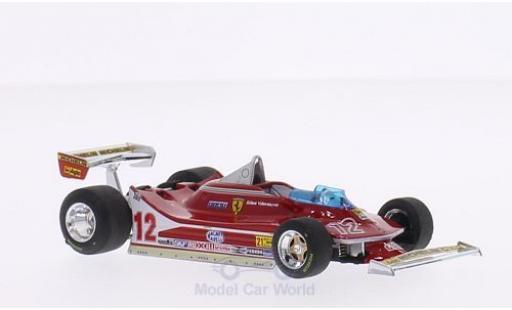 Ferrari 312 T4 1/43 Brumm T4 No.12 Scuderia Formel 1 GP USA West 1979 G.Villeneuve miniature