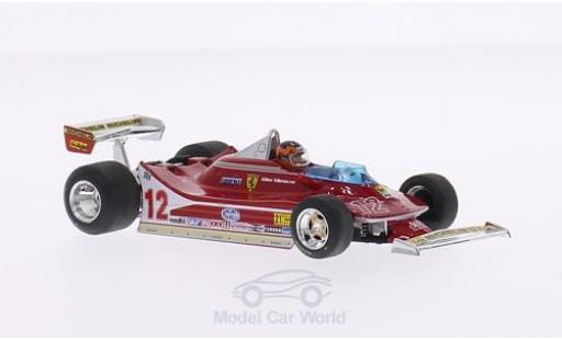 Ferrari 312 T4 1/43 Brumm T4 No.12 Scuderia Formel 1 GP USA West 1979 mit Fahrerfigur G.Villeneuve miniature