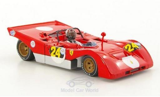 Ferrari 312 1/43 Brumm PB RHD No.24 1000 Km Buenos Aires 1971 mit Fahrerfigur in memoria di Ignazio Giunti 1971-2011 I.Giunti miniature