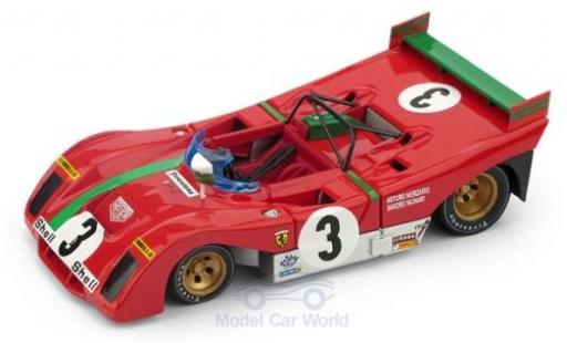 Ferrari 312 1/43 Brumm PB RHD No.3 Targa Florio 1972 A.Merzario/S.Munari diecast model cars