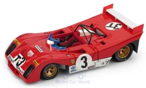 Ferrari 312 1/43 Brumm PB RHD No.3T Targa Florio 1972 T-Car A.Merzario/S.Munari miniature