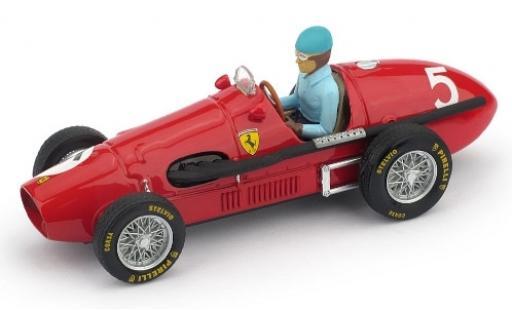 Ferrari 500 1/43 Brumm F2 No.5 Scuderia GP Großbritannien 1953 avec figurine de conducteur A.Ascari coche miniatura