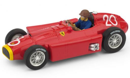 Ferrari D50 1/43 Brumm No.20 Formel 1 GP Monte Carlo 1956 avec figurine de conducteur J.M.Fangio miniature