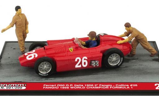 Ferrari D50 1/43 Brumm No.26 Formel 1 GP Italien 1956 avec figurines in Emballage sp�cial J.M.Fangio miniature