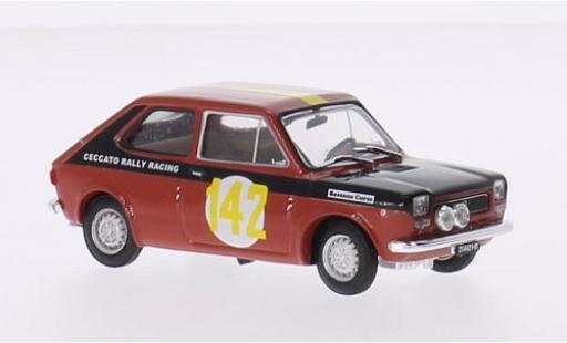 Fiat 127 1/43 Brumm No.142 Ceccato Rally Racing Rallye 2 Valli 1972 P.Ceccato coche miniatura