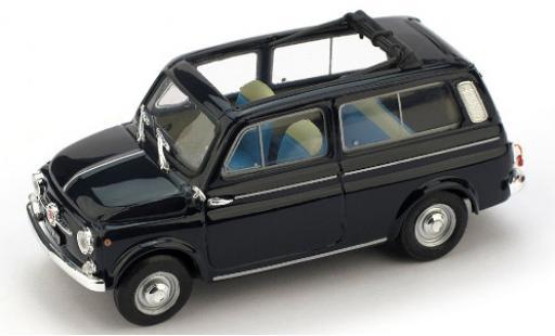 Fiat 500 1/43 Brumm Giardiniera bleue 1960 ouverts/es toit rabattable miniature