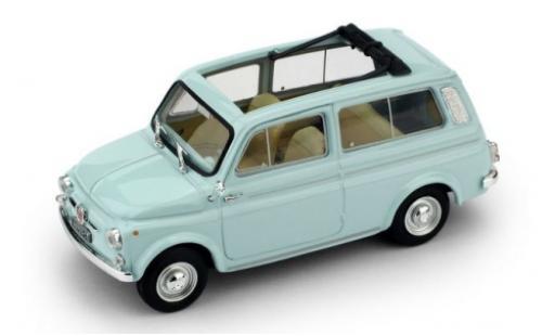 Fiat 500 1/43 Brumm Giardiniera bleue 1960 miniature
