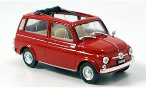 Fiat 500 1/43 Brumm Giardiniera rojo 1960 coche miniatura