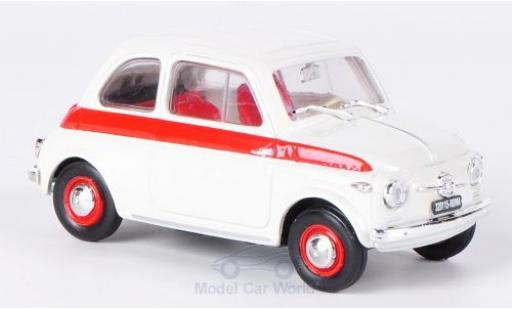 Fiat 500 1/43 Brumm Sport white/red 1958 ohne Vitrine diecast model cars