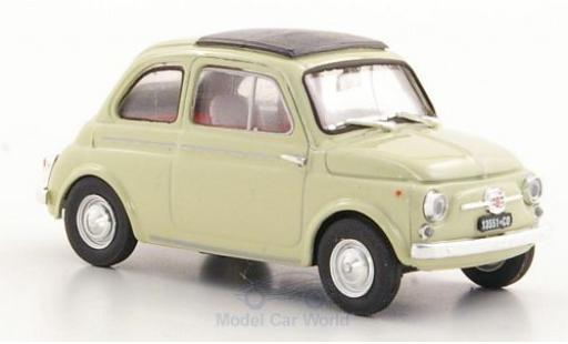 Fiat 500 1/43 Brumm D beige 1960 miniatura