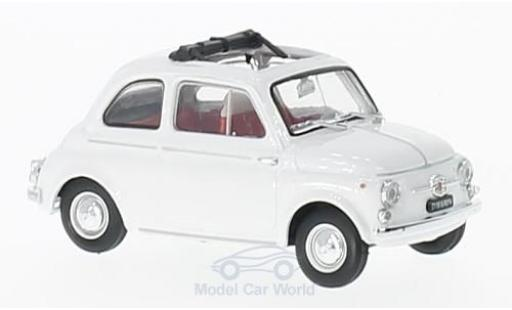 Fiat 500 1/43 Brumm D white 1960 diecast model cars