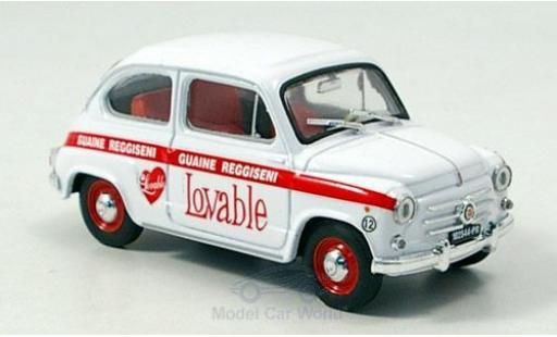 Fiat 600 1/43 Brumm 1960 Intimo Lovable diecast model cars