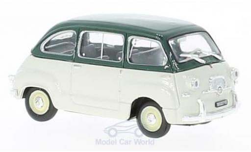 Fiat 600 1/43 Brumm Multipla green/grey 1956 diecast model cars