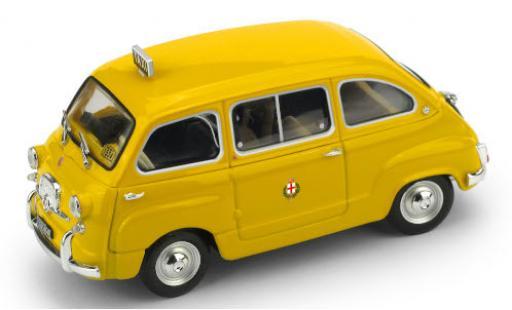 Fiat 600 1/43 Brumm D Multipla Taxi (I) 1970 Taxi di Milano diecast model cars