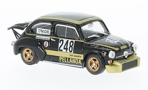 Fiat Abarth 1000 1/43 Brumm No.248 Rally Trento - Bondone 1976 G.Chivacci coche miniatura