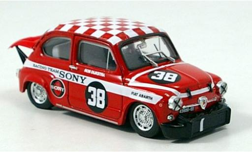 Fiat Abarth 1000 1/43 Brumm No.38 Sony Racing Team Zandvoort Trophy 1969 R.Dijkstra coche miniatura