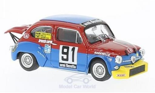 Fiat Abarth 1000 1/43 Brumm No.91 Scuderia Brescia Corse Coppa Carri Monza 1973 R.Amighini miniature