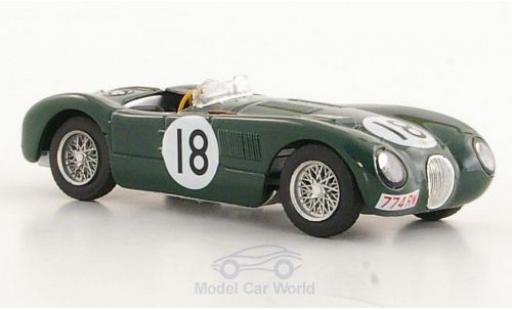 Jaguar C-Type 1/43 Brumm No.18 24h Le Mans 1953 T.Rolt/D.Hamilton miniature