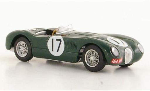Jaguar C-Type 1/43 Brumm RHD No.17 24h Le Mans 1953 Moss Collection P.Walker/S.Moss diecast model cars