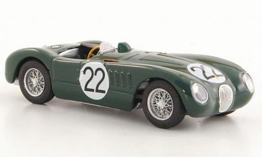 Jaguar C-Type 1/43 Brumm RHD No.22 24h Le Mans 1951 Moss Collection S.Moss/J.Fairman diecast model cars