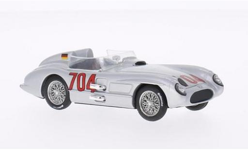Mercedes 300 1/43 Brumm SLR No.704 Mille Miglia 1955 H.Hermann diecast model cars