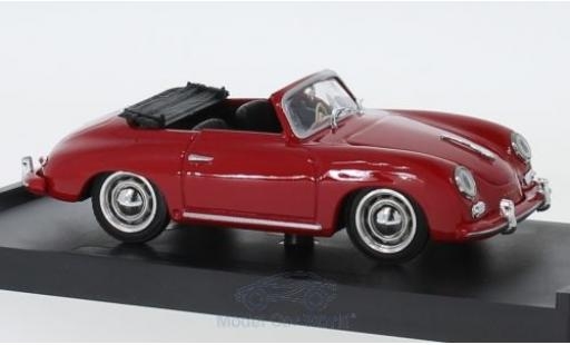 Porsche 356 1/43 Brumm Cabriolet rouge 1952 miniature