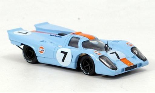 Porsche 917 1/43 Brumm K No.7 Gulf 1000km Monza 1970 P.Rodriguez/L.Kinnunen miniature