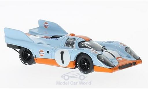 Porsche 917 1971 1/43 Brumm K No.1 Scuderia JWA-Gulf Gulf 1000km Monza J.Siffert/D.Bell diecast model cars