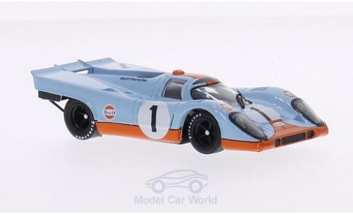 Porsche 917 1971 1/43 Brumm K No.1 Scuderia JWA-Gulf Team Gulf 24h Daytona J.Siffert/D.Bell diecast model cars