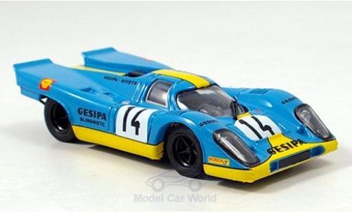 Porsche 917 1970 1/43 Brumm K No.14 Gesipa Racing Team 1000km Monza J.Neuhaus/R.Kelleners miniature
