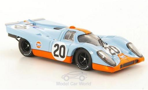 Porsche 917 1/43 Brumm K No.20 JWA-Gulf Racing Team 24h Le Mans 1970 J.Siffert/B.Redman ohne Vitrine miniatura