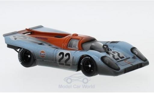 Porsche 917 1970 1/43 Brumm K No.22 JWA-Gulf Racing Team Gulf 24h Le Mans mit Rennspuren M.Hailwood/D.Hobbs miniature