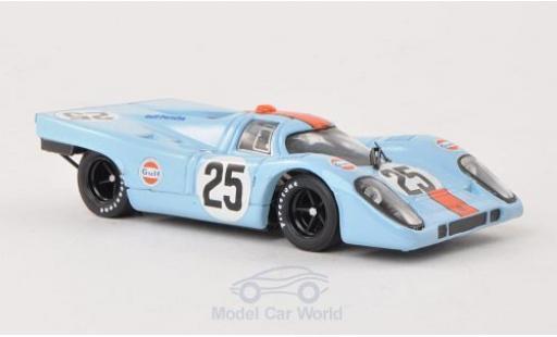Porsche 917 1970 1/43 Brumm K No.25 JWA Gulf 1000km Spa Rodriguez diecast model cars