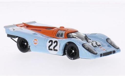 Porsche 917 1/43 Brumm K RHD No.22 Scuderia JWA-Gulf Gulf Le Mans 24h Le Mans 1970 M.Hailwood/D.Hobbs miniature