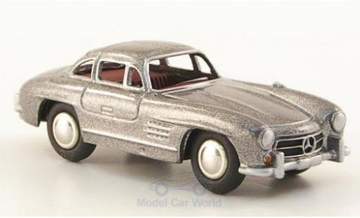 Mercedes 300 SL 1/87 Bub (W198) metallise grise miniature