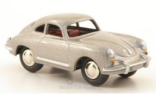Porsche 356 A 1/87 Bub B T5 metallise grise miniature